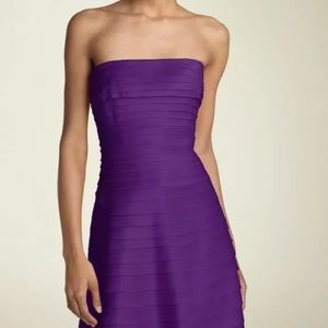 NWT Adrianna Papell Purple Satin Dress